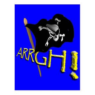 ARRGH ! Drapeau de pirate de ondulation de jolly Carte Postale