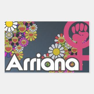Arriana - sheet of 4 sticker rectangulaire