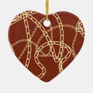 Arrière - plan 2 de chaîne d'or ornement cœur en céramique