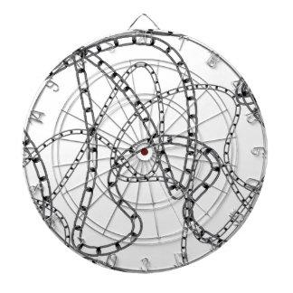 Arrière - plan à chaînes de fer cibles de fléchettes