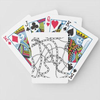 Arrière - plan à chaînes de fer jeu de cartes