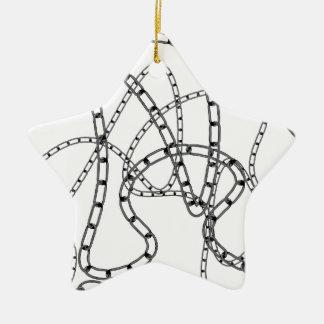 Arrière - plan à chaînes de fer ornement étoile en céramique