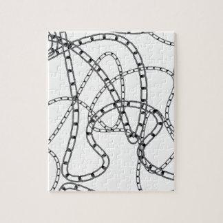 Arrière - plan à chaînes de fer puzzle
