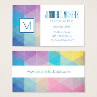 Arrière - plan abstrait coloré de triangles cartes de visite