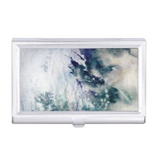 Arrière - plan abstrait d'aquarelle sur le papier porte-cartes de visite