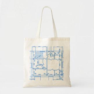 Arrière - plan architectural sac en toile budget