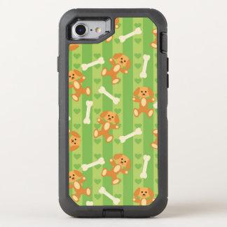 arrière - plan avec des chiens et des os coque otterbox defender pour iPhone 7
