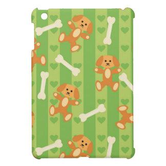 arrière - plan avec des chiens et des os étuis iPad mini