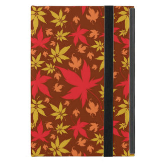 Arrière - plan avec le feuille d'automne coloré étui iPad mini