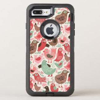 arrière - plan avec les oiseaux mignons coque otterbox defender pour iPhone 7 plus
