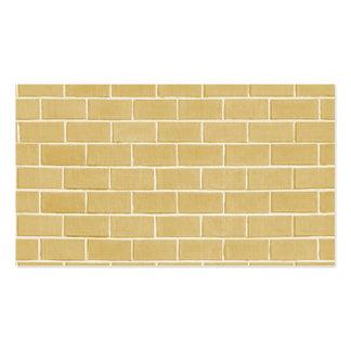 arrière - plan beige de brique carte de visite standard