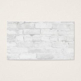 Arrière - plan blanc de brique cartes de visite