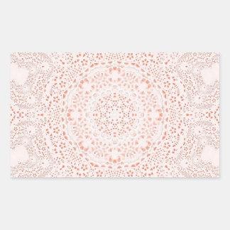 Arrière - plan blanc et de corail d'image de tissu sticker rectangulaire