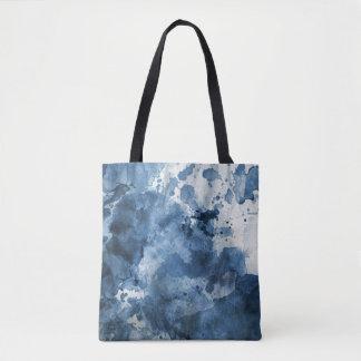Arrière - plan bleu abstrait d'aquarelle sac