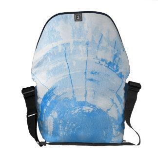 Arrière - plan bleu abstrait d'aquarelle, texture besace