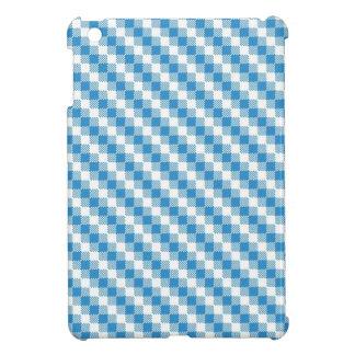 arrière - plan Bleu-blanc de carrés Coque iPad Mini