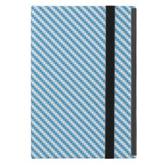arrière - plan Bleu-blanc de carrés Étui iPad Mini