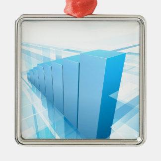 Arrière - plan bleu d'affaires de graphique ornement carré argenté