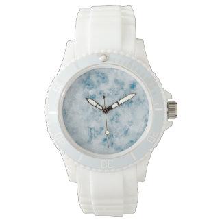 Arrière - plan bleu de marbre de texture montres