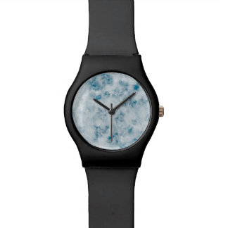 Arrière - plan bleu de marbre de texture montres cadran