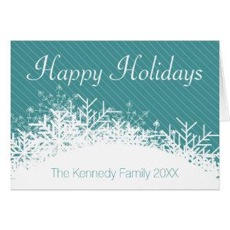 Arrière - plan bleu de Noël avec des flocons de Carte De Vœux