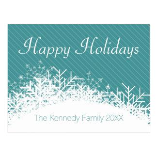Arrière - plan bleu de Noël avec des flocons de Cartes Postales
