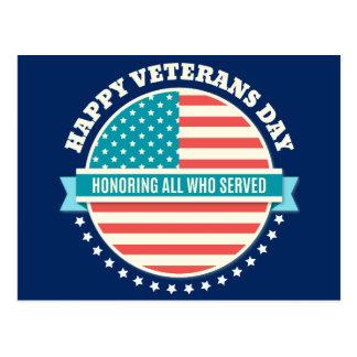 Arrière - plan bleu-foncé de vétérans de jour de carte postale