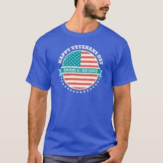 Arrière - plan bleu-foncé de vétérans de jour de t-shirt