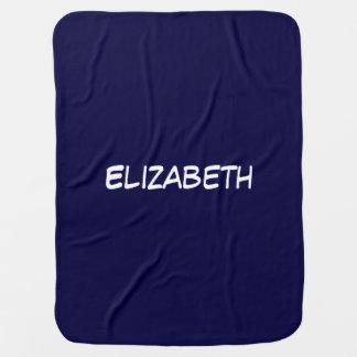 Arrière - plan bleu solide de bleu marine, couverture de bébé