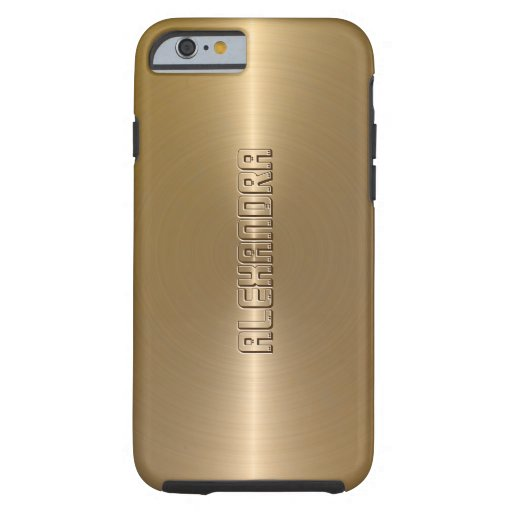 Arrière - plan brillant métallique d'or de coque iPhone 6 tough