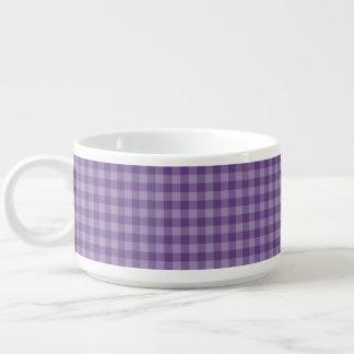 Arrière - plan checkered violet bol à chili