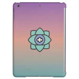 Arrière - plan coloré avec une icône de fleur