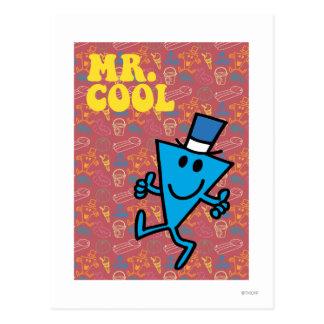 Arrière - plan coloré de M. Cool | Carte Postale