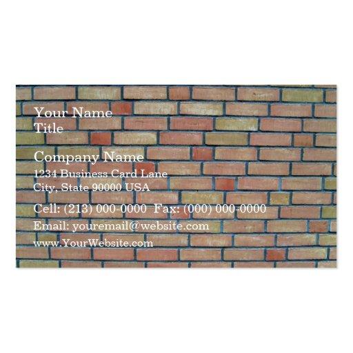 Arrière - plan coloré multi de mur de briques modèle de carte de visite