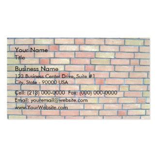 Arrière - plan coloré multi de mur de briques carte de visite standard