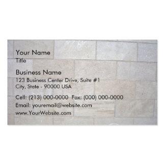 Arrière - plan concret de mur de briques carte de visite standard