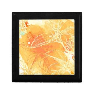 Arrière - plan d'aquarelle de vecteur et fleurs tr petite boîte à bijoux carrée