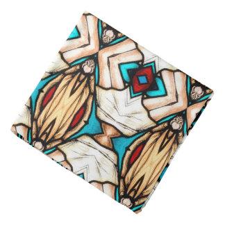 Arrière - plan d'art abstrait en verre souillé bandana