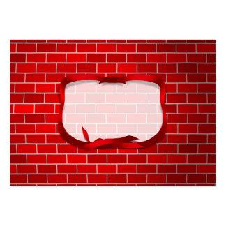 Arrière - plan de brique rouge modèle de carte de visite