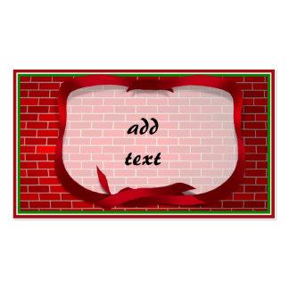 Arrière - plan de brique rouge carte de visite standard