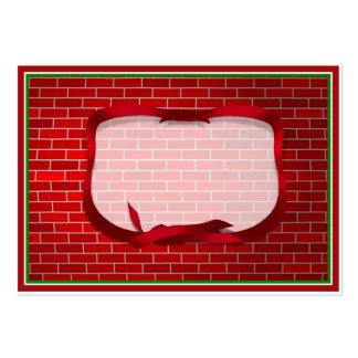 Arrière - plan de brique rouge carte de visite grand format