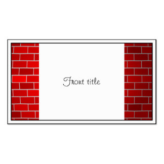 Arrière - plan de briques rouges de dérive de modèle de carte de visite
