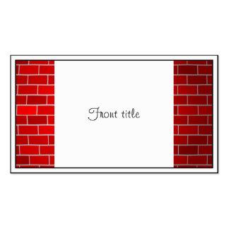 Arrière - plan de briques rouges de dérive de carte de visite standard