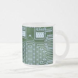 Arrière - plan de carte mug en verre givré