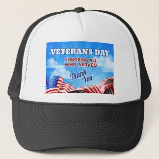 Arrière - plan de ciel de drapeau américain de casquette