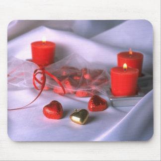 Arrière - plan de coeurs de mariage tapis de souris