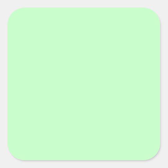 arri re plan de couleur en pastel de vert bleu sticker carr zazzle. Black Bedroom Furniture Sets. Home Design Ideas
