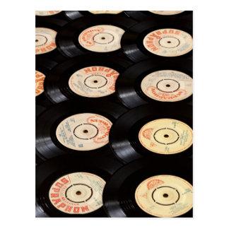 Arrière - plan de disques vinyle cartes postales