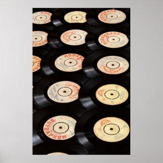 Arrière - plan de disques vinyle posters