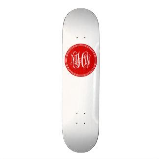 Arrière - plan de do-it-yourself, monogramme rouge skateboard 21,6 cm